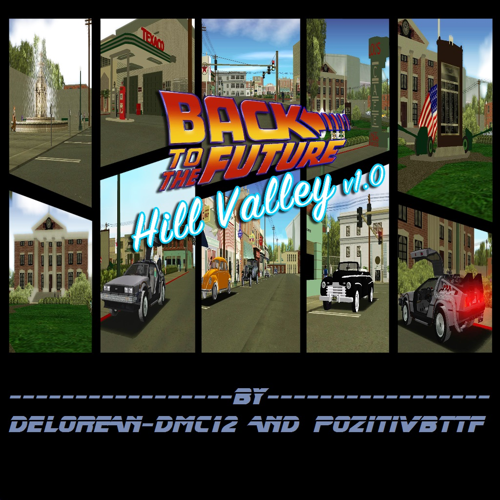 GTA Vice City BTTF Hill Valley 0.2e rus v1.0 by Delorean-DMC12 and PozitiVBttF