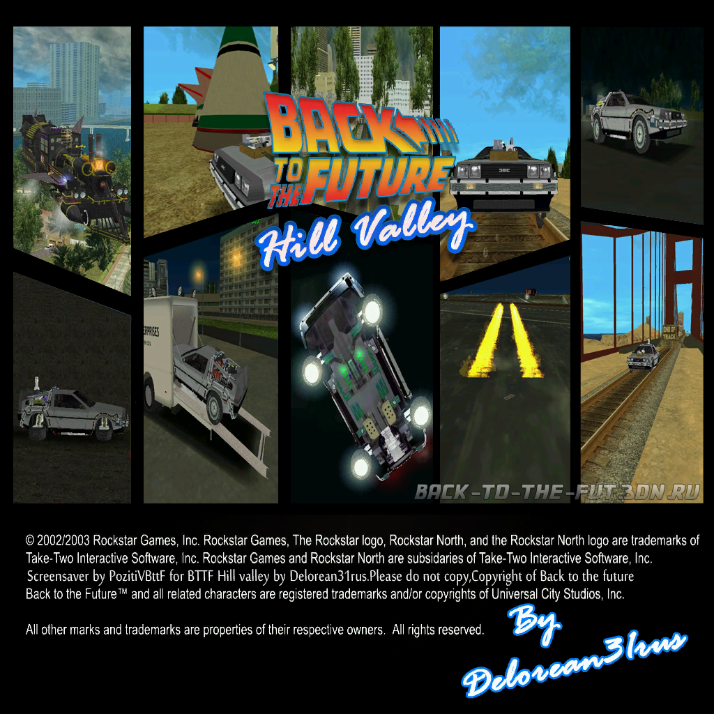 Back To The Future Hill Valley v0.1 by DeLorean31rus DEMO